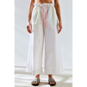 Urban outfitters white flared bungee pants